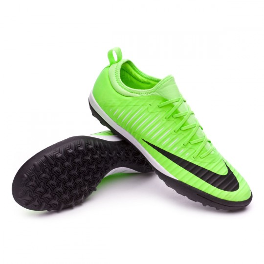 Zapatilla de fútbol sala  Nike MercurialX Finale II Turf Flash lime-Black-White-Gum Light Brown