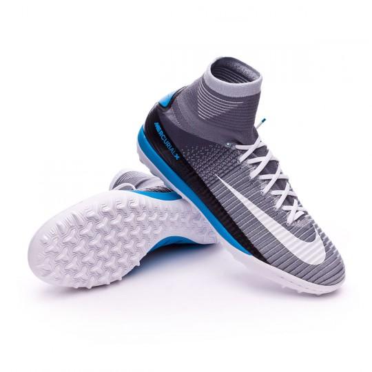Zapatilla de fútbol sala  Nike MercurialX Proximo II Turf Wolf grey-White-Pure platinum-Laser blue