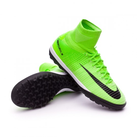 Sapatilha de Futsal  Nike MercurialX Proximo II Turf Electric green-Black-Hyper orange-Volt