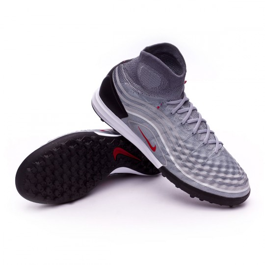 Zapatilla de fútbol sala  Nike MagistaX Proximo II Turf Cool grey-Varsity red-Black-Wolf grey