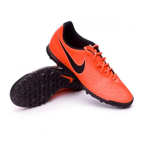 Chaussure de futsal  Nike MagistaX Ola II Turf Total crimson-Black-Bright mango