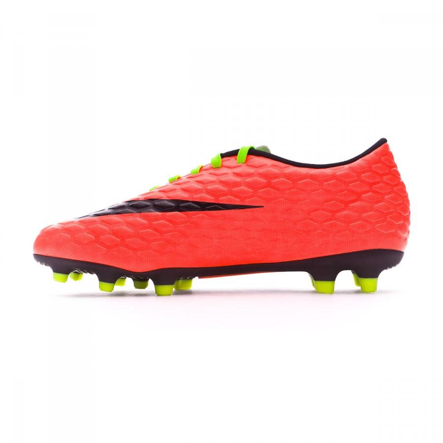 d7aea54eec8 Boot Nike Hypervenom Phade III FG Electric green-Black-Hyper orange-Volt -  Soloporteros es ahora Fútbol Emotion