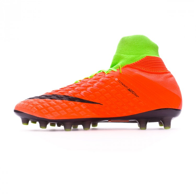 Bota Df Volt Phantom Iii Hypervenom Ag Pro Black Orange Electric Green Hyper l1cFKJ