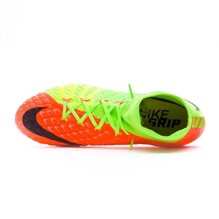 6b8f6527e14e Boot Nike Hypervenom Phantom III DF AG-Pro Electric green-Black ...