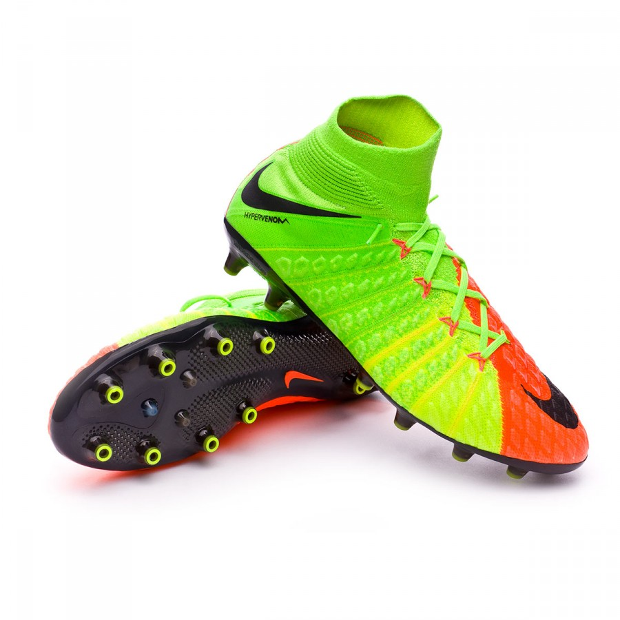 e7d938141802 Nike Hypervenom Phantom III DF AG-Pro Football Boots. Electric green-Black-Hyper  orange-Volt ...