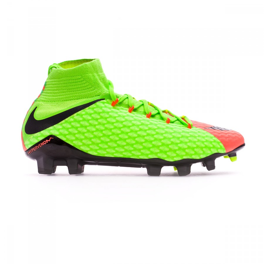 innovative design c0071 566f6 Bota Hypervenom Phatal III DF FG Electric green-Black-Hyper orange-Volt