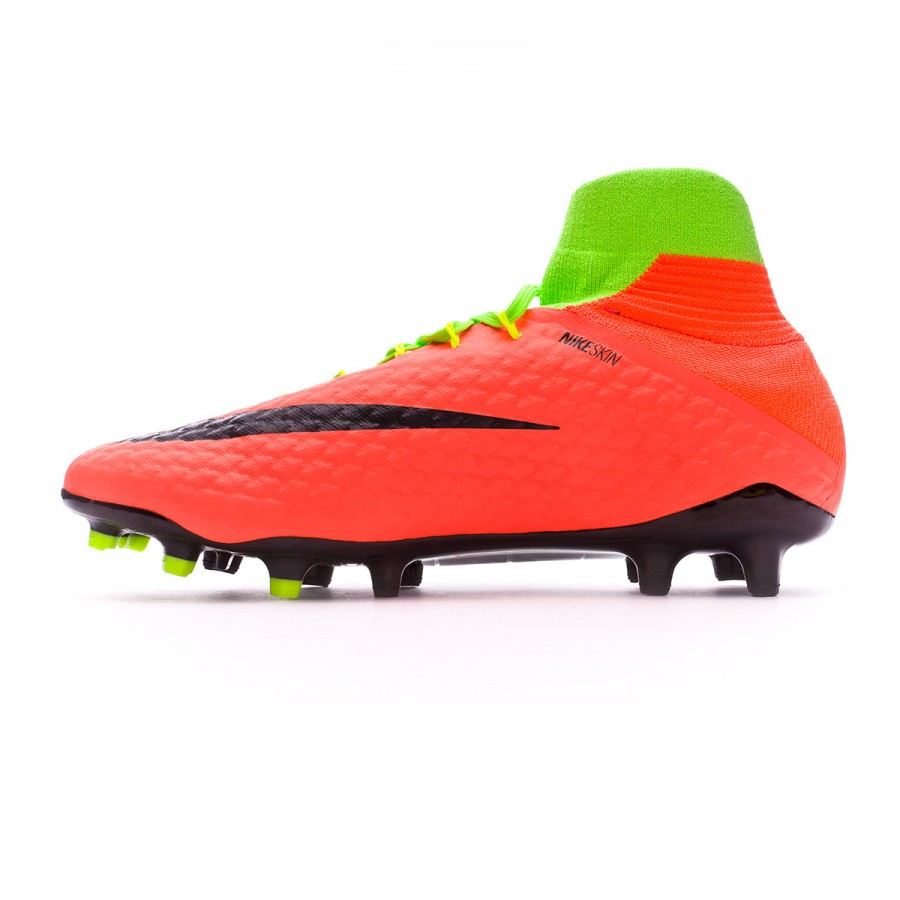 3ebf83bedad2 Football Boots Nike Hypervenom Phatal III DF FG Electric green-Black-Hyper  orange-Volt - Tienda de fútbol Fútbol Emotion