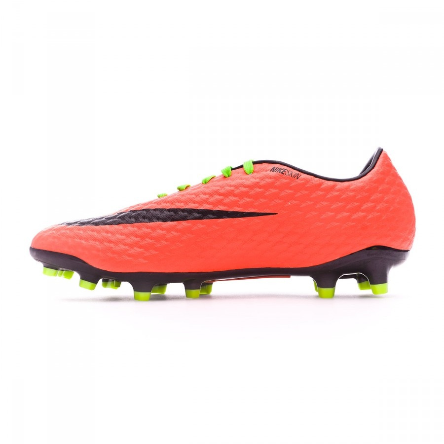 ed1a5e171 Football Boots Nike Hypervenom Phelon III FG Electric green-Black-Hyper  orange-Volt - Football store Fútbol Emotion