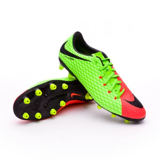 Chuteira  Nike Hypervenom Phelon III AG-Pro Electric green-Black-Hyper orange-Volt