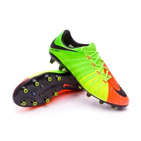 Chuteira  Nike Hypervenom Phantom III ACC AG-Pro Electric green-Black-Hyper orange-Volt