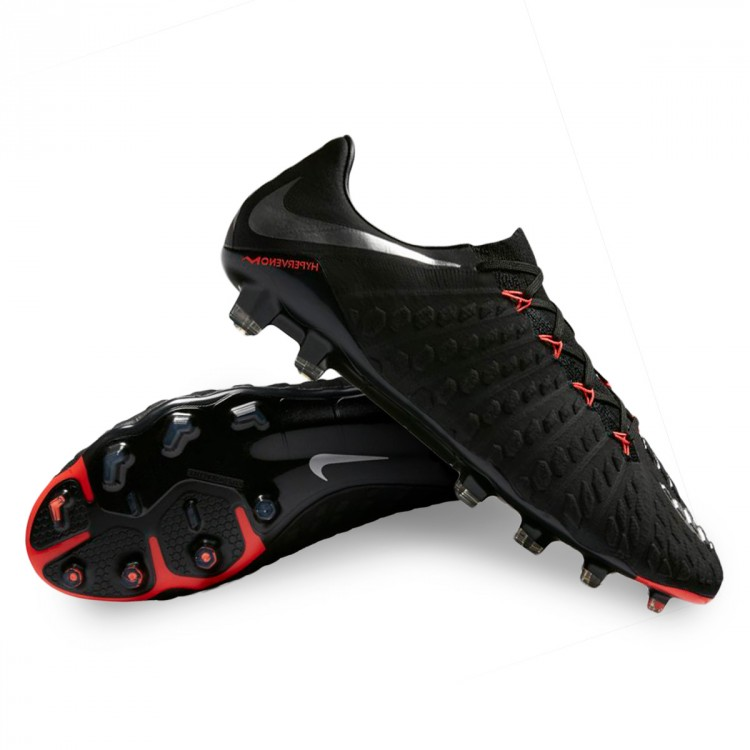 dd7e479d19db Football Boots Nike Hypervenom Phantom III ACC FG Black-Metallic ...