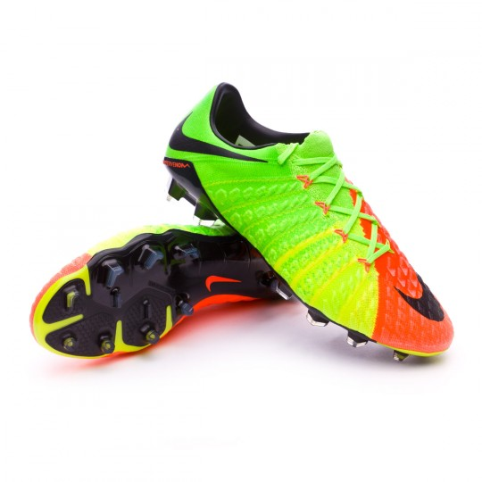 Chuteira  Nike Hypervenom Phantom III ACC FG Electric green-Black-Hyper orange-Volt
