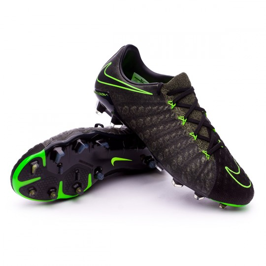 Chuteira  Nike Hypervenom Phantom III ACC TC FG Black-Electric green-Sequoia-Palm green
