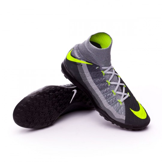 Zapatilla de fútbol sala  Nike HypervenomX Proximo II DF Turf Black-Volt-Dark grey-Wolf grey
