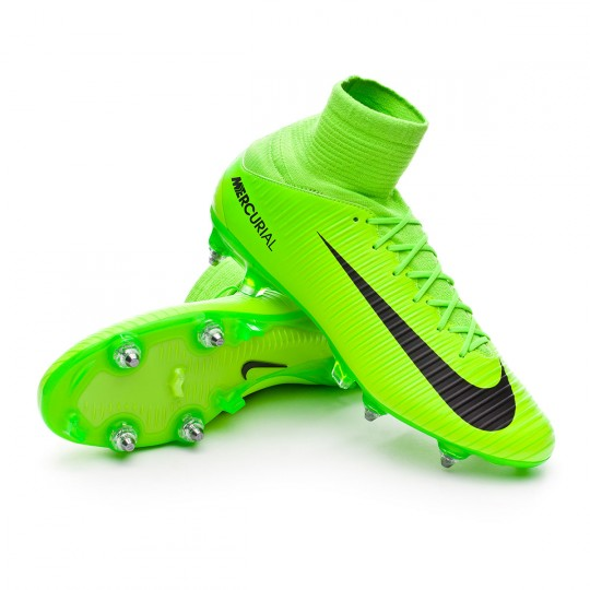Bota  Nike Mercurial Veloce III DF SG-Pro Electric green-Black-Flash lime-White