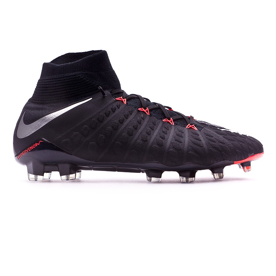 daed3698658d Football Boots Nike Hypervenom Phantom III ACC DF FG Black-Metallic silver- Black-Anthracite - Football store Fútbol Emotion