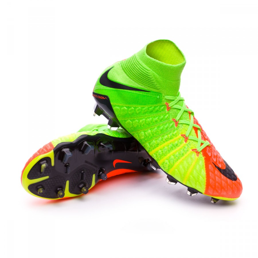 c9e2ac6d334c Football Boots Nike Hypervenom Phantom III ACC DF FG Electric green ...