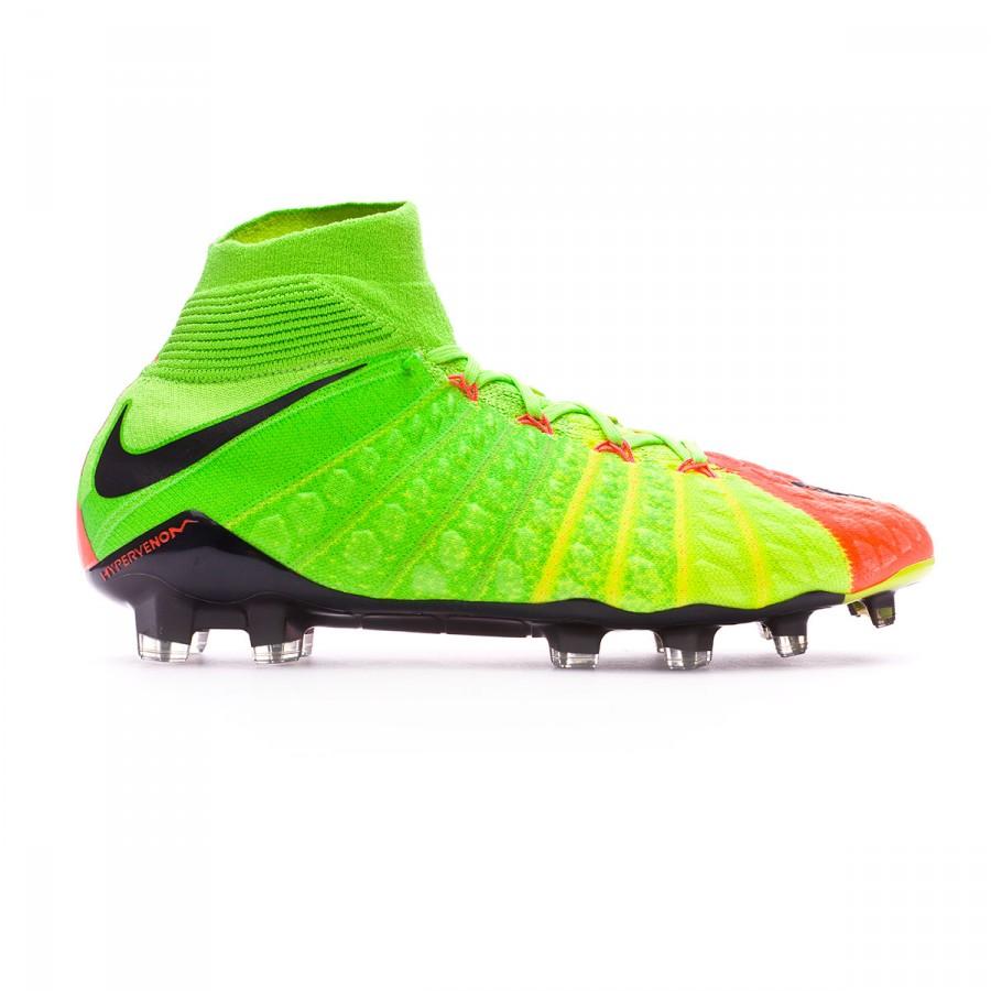 455405470 Football Boots Nike Hypervenom Phantom III ACC DF FG Electric green-Black-Hyper  orange-Volt - Football store Fútbol Emotion