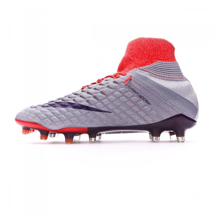 3bfb620b6 Football Boots Nike Hypervenom Phantom III DF ACC FG Women Wolf grey-Purple  dynasty-Max orange - Football store Fútbol Emotion