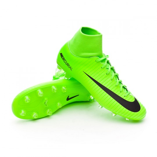 Chuteira  Nike Mercurial Victory VI DF AG-Pro Electric green-Black-Flash lime-White