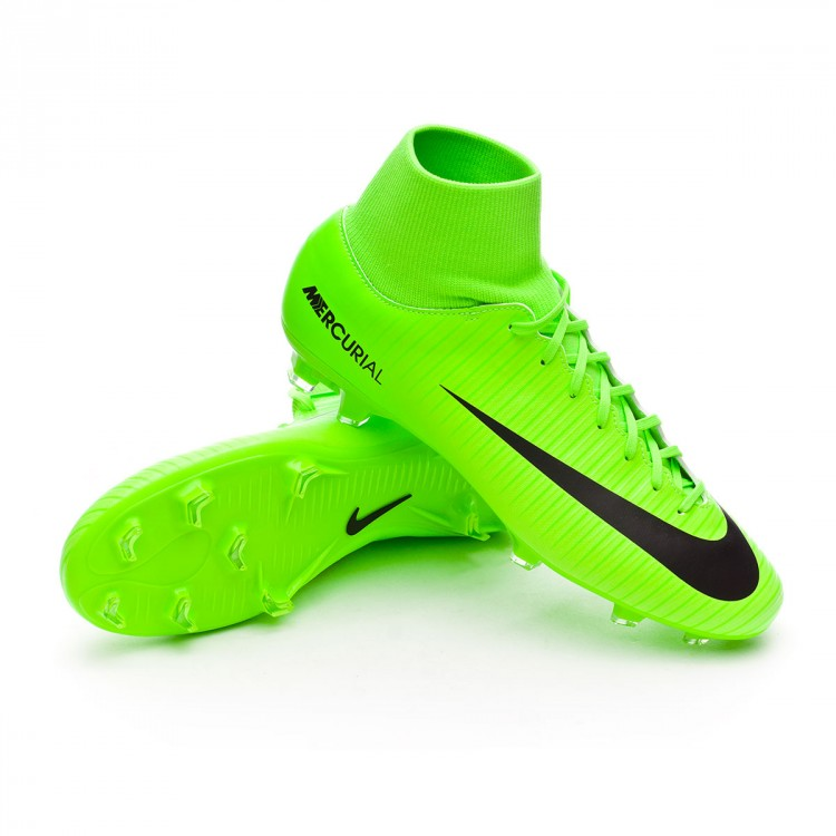 2437720e8ad8 Football Boots Nike Mercurial Victory VI DF FG Electric green-Black ...