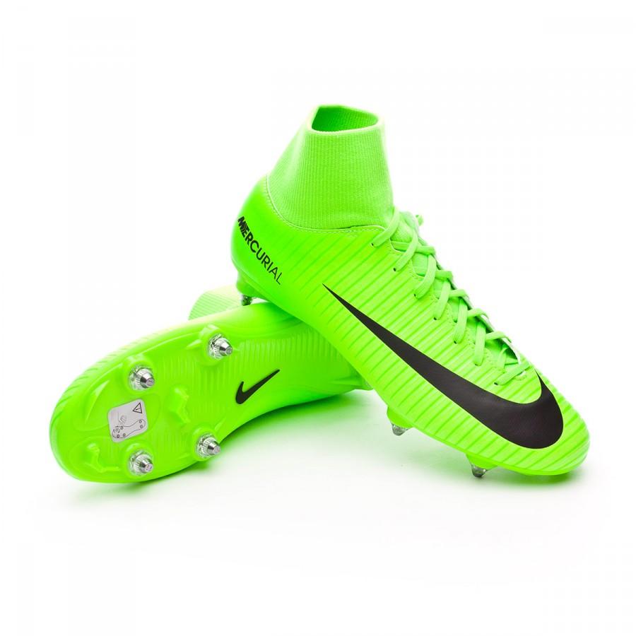 5ac22cd1eab0 Football Boots Nike Mercurial Victory VI DF SG Electric green-Black ...