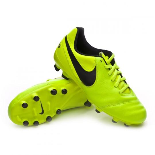 Bota  Nike jr Tiempo Legend VI FG Volt-Black-Volt