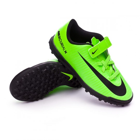 Zapatilla de fútbol sala  Nike jr MercurialX Vortex III VelcroTurf Electric green-Black-Flash lime-White