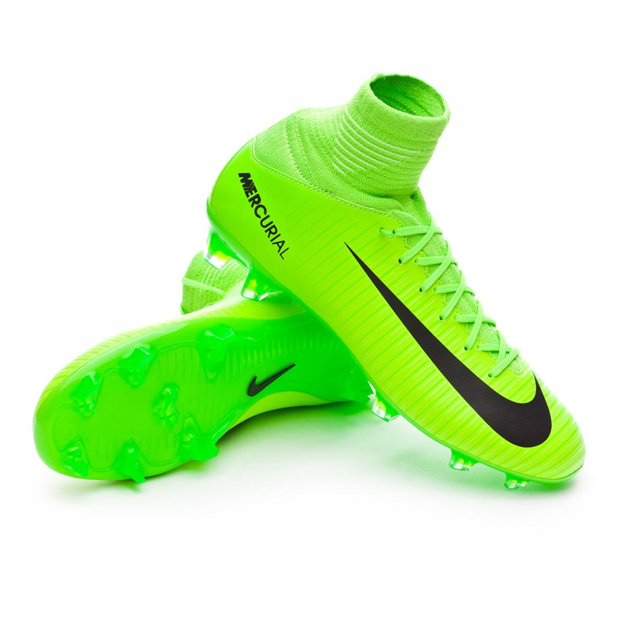 14f9abbb65a4f Bota de fútbol Nike Mercurial Superfly V FG Niño Electric green-Black-Flash  lime-White - Tienda de fútbol Fútbol Emotion