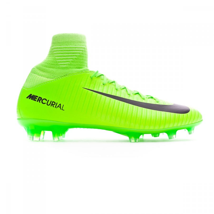 9be45143d Football Boots Nike Jr Mercurial Superfly V FG Electric green-Black-Flash  lime-White - Football store Fútbol Emotion