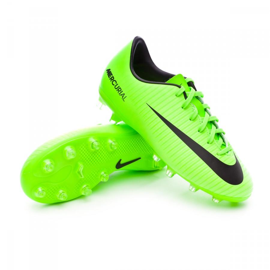 830343344 Nike Jr Mercurial Vapor XI AG Football Boots. Electric green-Black-Flash  lime-White ...