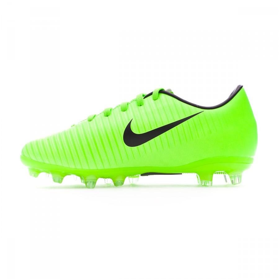09fd24e77 Football Boots Nike Jr Mercurial Vapor XI AG Electric green-Black-Flash  lime-White - Football store Fútbol Emotion
