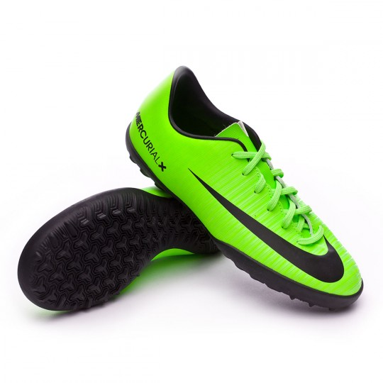Zapatilla de fútbol sala  Nike jr MercurialX Vapor XI Turf Electric Green-Black-Flash lime-White