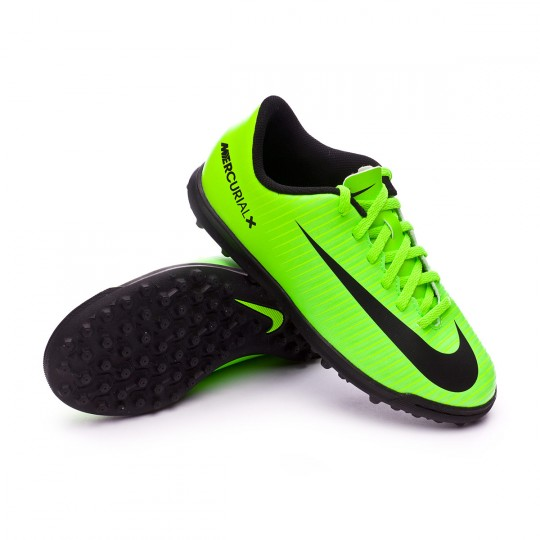 Zapatilla de fútbol sala  Nike jr MercurialX Vortex III Turf Electric green-Black-Flash lime-White