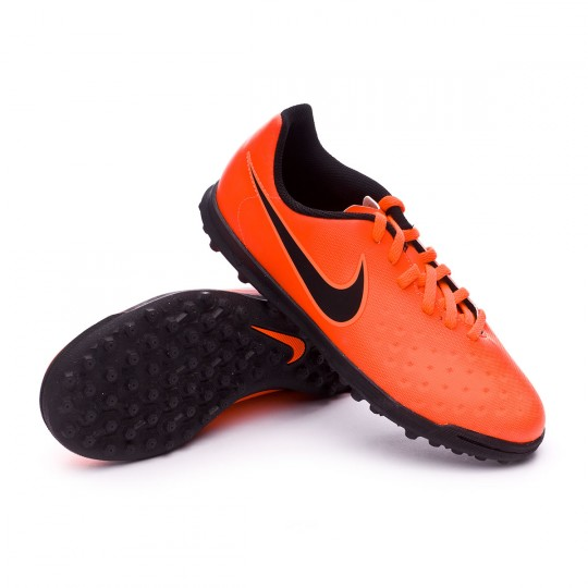 Zapatilla de fútbol sala  Nike jr MagistaX Ola II Turf Total crimson-Black-Bright mango