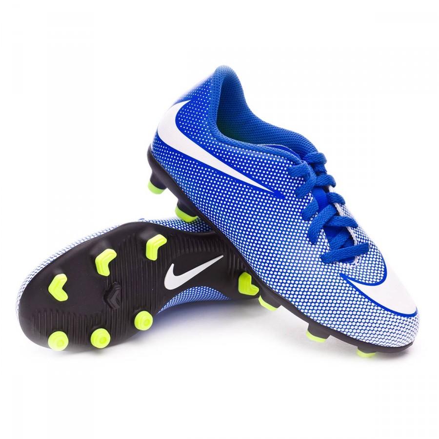 0b2facdde327 Football Boots Nike Jr Bravata II FG Racer blue-White-Volt - Tienda ...