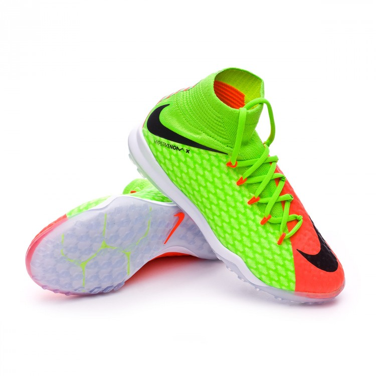 a24e5d300ba35 Football Boot Nike Jr HypervenomX Proximo II DF Turf Electric green ...