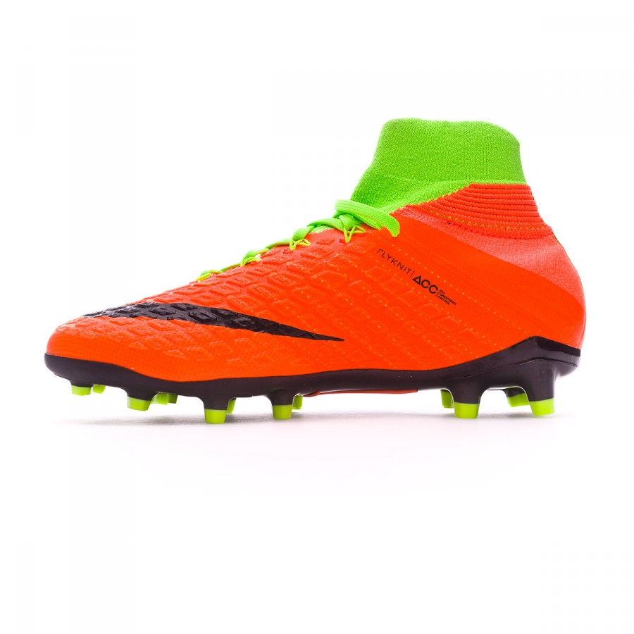 aca1bc061d8 Football Boots Nike Jr Hypervenom Phantom III DF FG Electric green-Black-Hyper  orange-Volt - Football store Fútbol Emotion