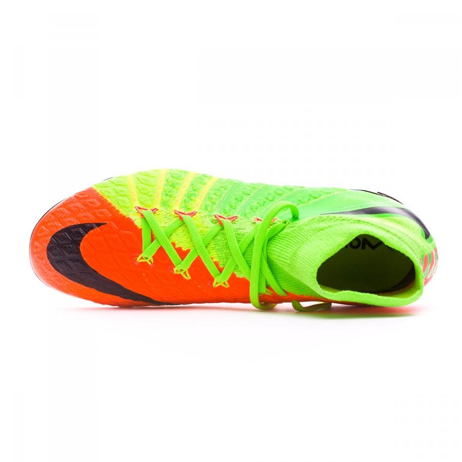 4d98034e37e48 Bota de fútbol Nike Hypervenom Phantom III DF FG Niño Electric  green-Black-Hyper orange-Volt - Tienda de fútbol Fútbol Emotion