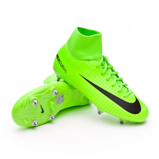 Bota  Nike jr Mercurial Victory VI DF SG Electric green-Black-Flash lime-White