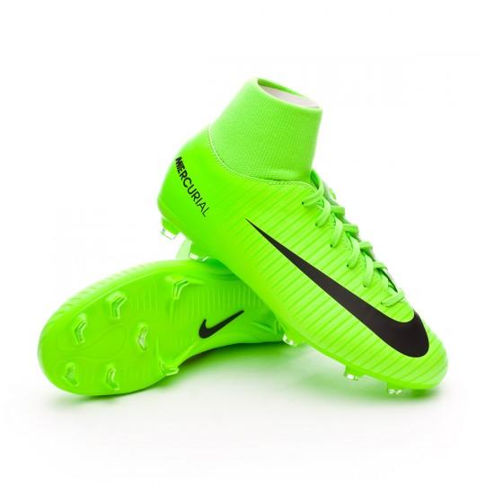 Bota  Nike jr Mercurial Victory VI DF FG Electric green-Black-Flash lime-White