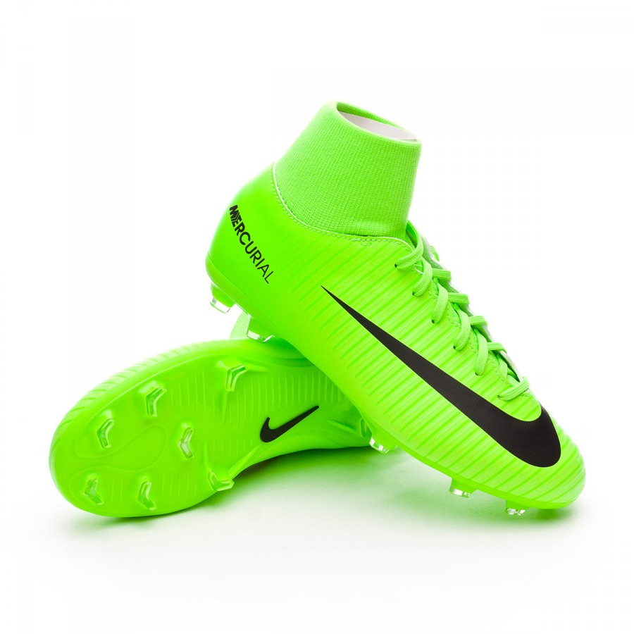 7fac77d11 Football Boots Nike Jr Mercurial Victory VI DF FG Electric green ...
