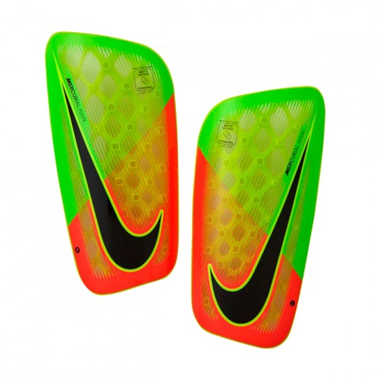 Espinillera  Nike Mercurial Flylite Electric green-Hyper orange-Black