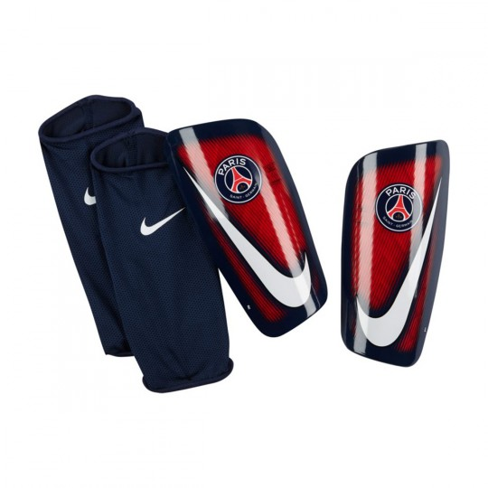 Espinillera  Nike Mercurial Lite PSG Challenge red-Midnight navy-White