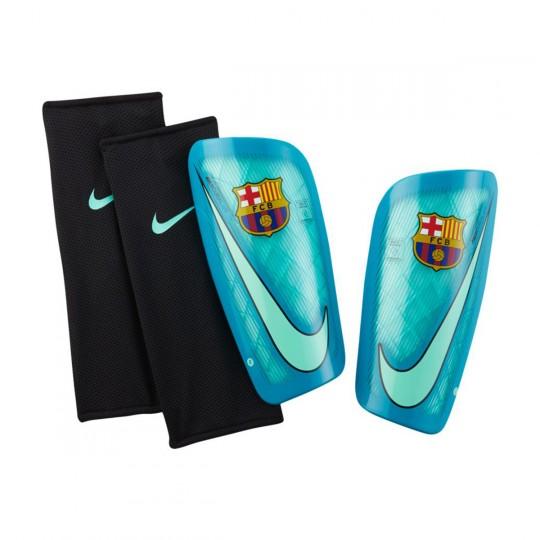Protège tibia  Nike Mercurial Lite FC Barcelona Green glow-Energy-Black