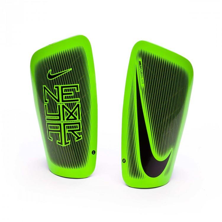 Shinpads Nike Mercurial Lite Neymar Jr Black-Electric green-Black ... 4c880fda402a5