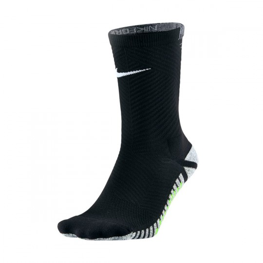 Meias  Nike Grip Strike Light Crew Black-Volt-White