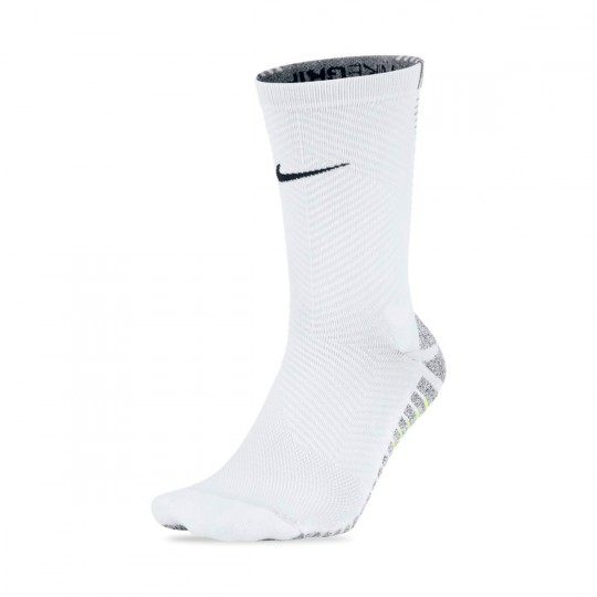 Calcetines  Nike Grip Strike Light Crew White-Black