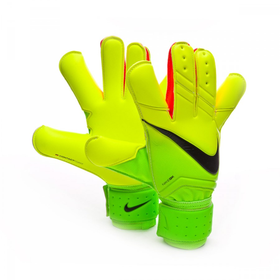 ... Soccer Goalkeeper Gloves (Electric GreenVoltBlack) Glove Nike Vapor  Grip 3 Electric green-Volt-Black - Soloporteros es ahora Fútbol ...