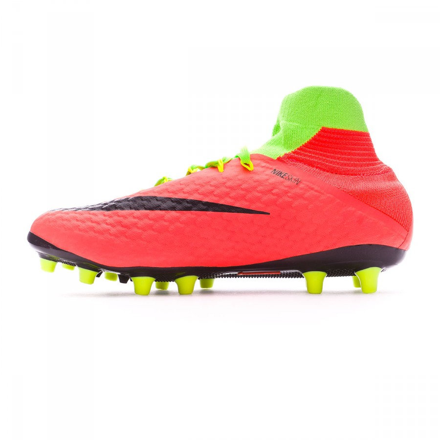 66f3c37b2f85 Football Boots Nike Hypervenom Phatal III DF AG-Pro Electric green-Black-Hyper  orange-Volt - Football store Fútbol Emotion
